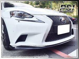 CARKING Fit 14-16 Lexus IS JD Side Skirts EXTENSION SPOILER BLACK CLEARCOAT