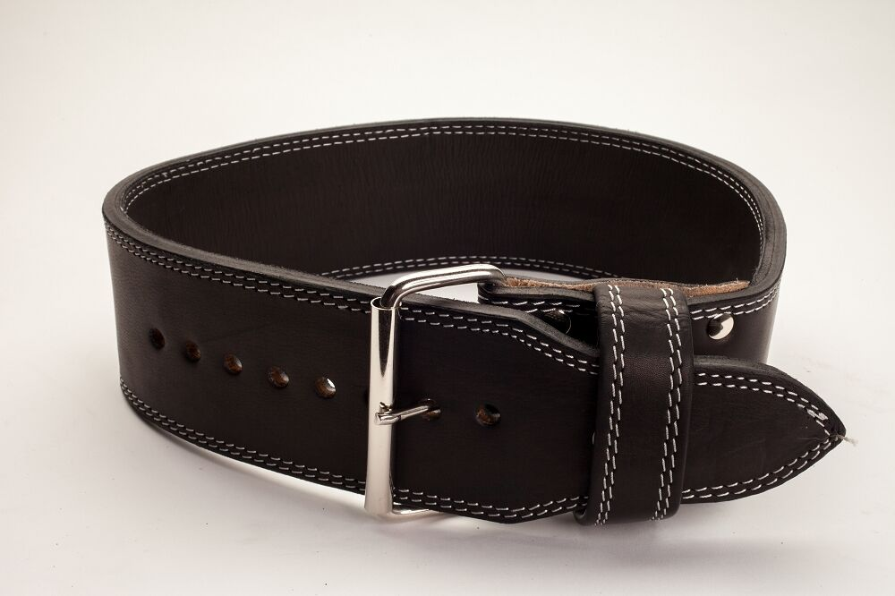 Polished  Leather 13mm 1 Prong Belt - Weightlifting - Powerlifting  IPF approved  special offer