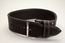 Powerlifting Belt 13mm 2 prong black suede IPF Approved Deadlift Squat
