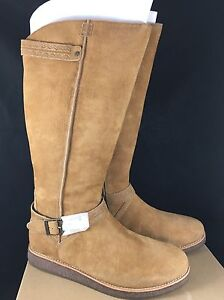 0264ca5510 Image is loading UGG-Australia-GELLAR-Chestnut-SUEDE-WATER-RESISTANT-RIDING-