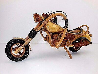 Holz Motorrad Deko Chopper Harley Davidson Honda Simson Biker Handwerkskunst