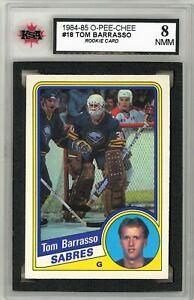 1984-85-OPC-Hockey-18-Tom-Barrasso-RC-Graded-8-0-NMM-062319-51