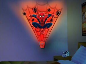 Wild Walls Spiderman Wall Stickers 15 Decal With Light