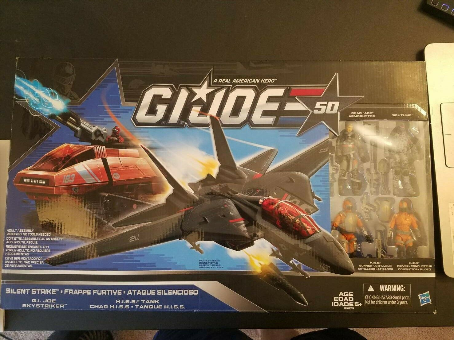 Gi Joe 50th Anniversary Silent Strike Skystriker and HISS Tank