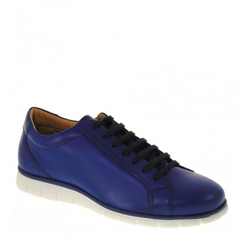 STONE HAVEN BY SOLDINI 20414-G-S20 SNEAKERS  UOMO PELLE GAUCHO BLU IMBRUNIRE