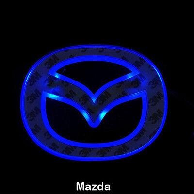 LED Car Tail Logo Blue light Auto Badge Light for Mazda 5 New Mazda 6