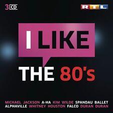 RTL I LIKE THE 80S MICHAEL JACKSON/A-HA/KIM WILDE/SPANDAU BALLET/+  3 CD NEU