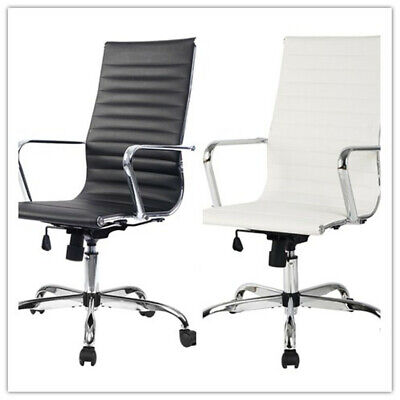 Fauteuil de Bureau Chaise de Bureau Cuir PU Haut Réglable 56x63x103 113cm | eBay