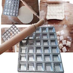 Ravioli-Mold-DIY-Maker-Press-Pastry-Mould-Silver-Kitchen-Gadget-Aluminum-alloy