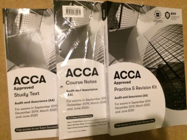 ACCA AA Audit and Assurance Study Text, Course Notes and Revision kit - BPP  2019