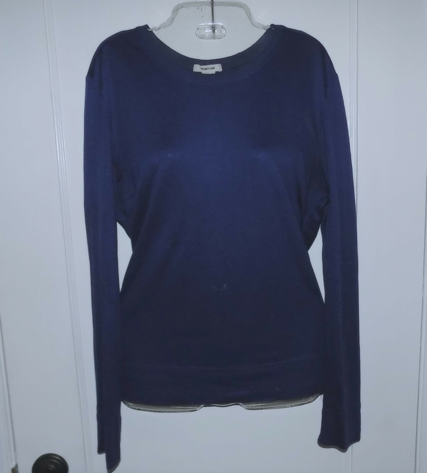 HELMUT LANG Back Scoop Crotver Knot Top-Small-Navy-Gorgeous-Great condition
