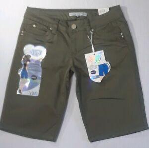 Royalty-for-me-YMI-Wanna-Betta-Butt-Jean-Bermuda-Shorts-NWT-New-5-Olive