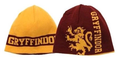 Harry Potter NEW Rare Hat Cap Gryffindor Reversible Knit Beanie