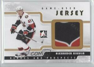 2008-09-ITG-Heroes-and-Prospects-Game-Used-Jersey-Gold-10-Alexander-Nikulin