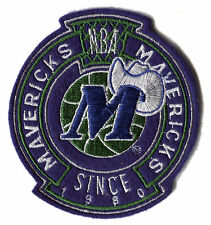 "DALLAS MAVERICKS NBA BASKETBALL SINCE 1980 3.5"" TEAM LOGO PATCH"