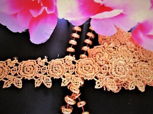 selling by the yard Amazing design = Gold color = Venise lace trim
