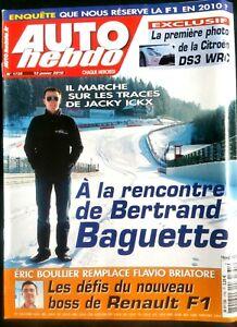 Auto Hebdo Du 13/01/2010; Bertrand Baguette/ E. Boullier Remplace F. Briatore