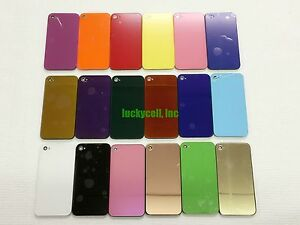 For-iPhone-4S-4-CDMA-GSM-Color-Rear-Glass-Back-Cover-Battery-Door-Replacement