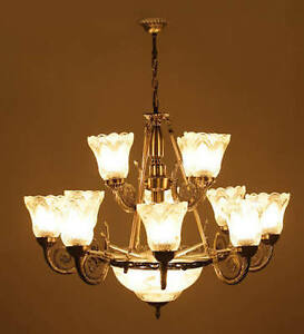 Antique Chandelier With 12 Portuguese Style Lamps+1Handi For Ceiling-Dreamzdecor