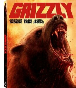 GRIZZLY-1976-Blu-Ray-UNCUT-GORE-Limited-Ed-1-1500-HORROR-w-Rare-SLIPCOVER