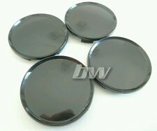 4x BLACK 63MM ALLOY WHEEL CENTRE CAPS UNIVERSAL RANGE & LAND ROVER VW JEEP SAAB