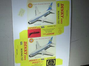 REPLIQUE-BOITE-AVION-BOEING-737-LUFTHANSA-DINKY-TOYS-1970