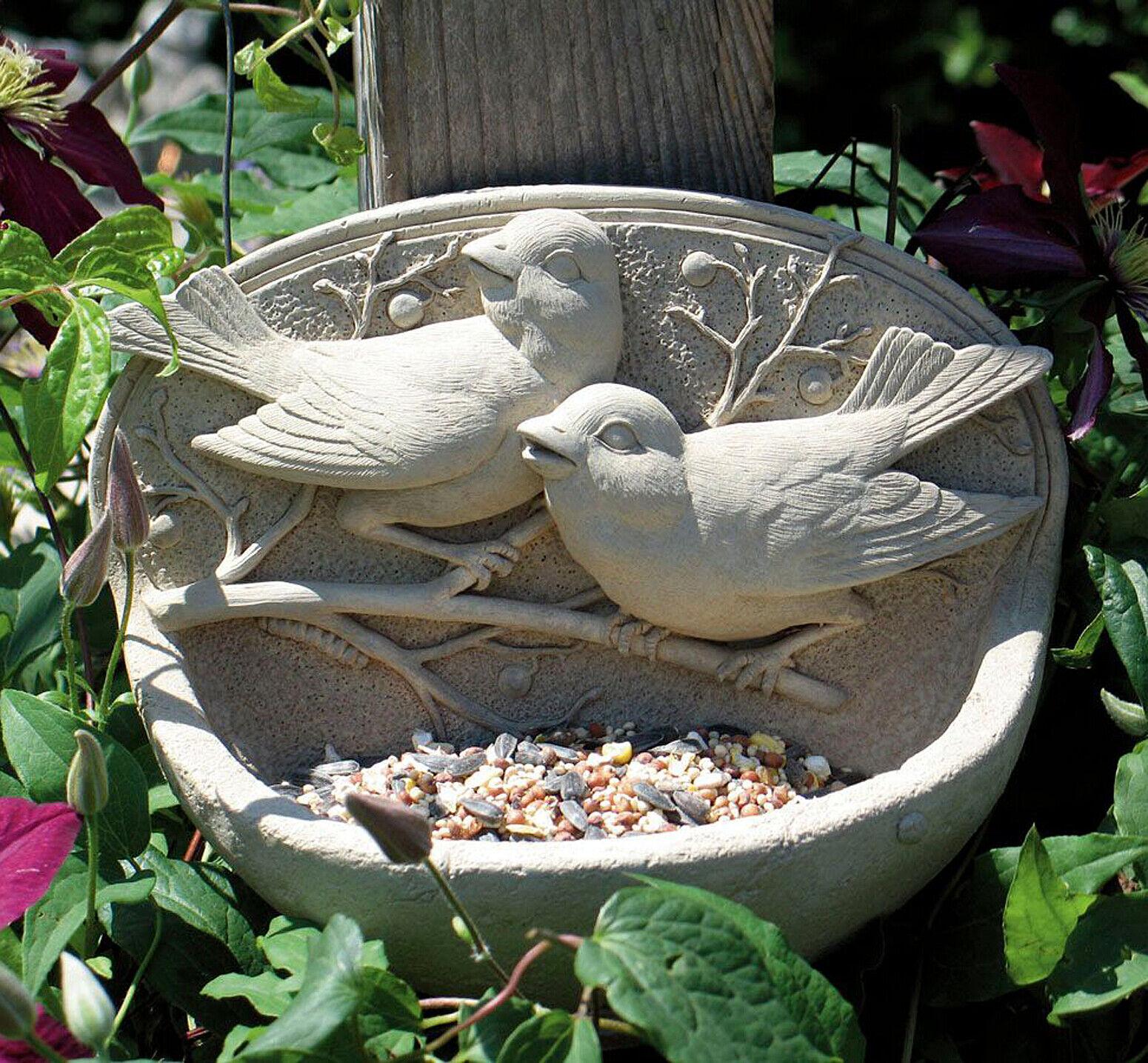 Alimentadores de Aves-Pájaros en Rama Piedra alimentador del pájaro-acabado de piedra natural
