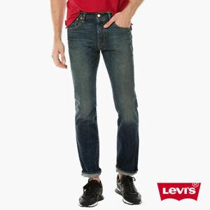 LEVIS 501 Selvedge Denim Jeans Couleur ZEPPELIN 005012402