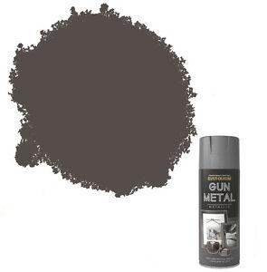 x5 Rust-Oleum Multi-Purpose Premium Spray Paint 400ml Metallic Gun Metal Grey