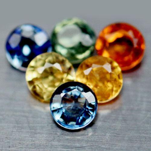 6 zafiros 2,5 mm redondo vs