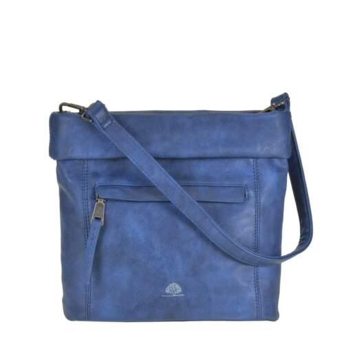 Leni Umhängetasche Damentasche blau Greenburry Schultertasche S Mad/'l Dasch