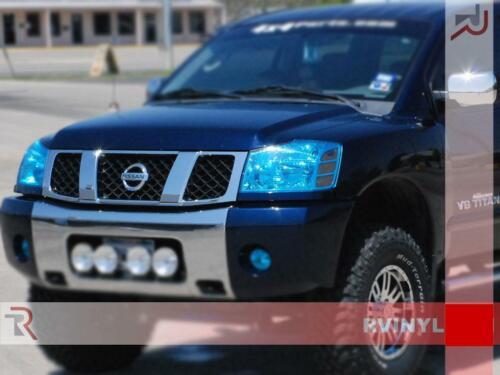 Rtint Headlight Tint Precut Smoked Film Covers for Nissan Titan 2004-2015