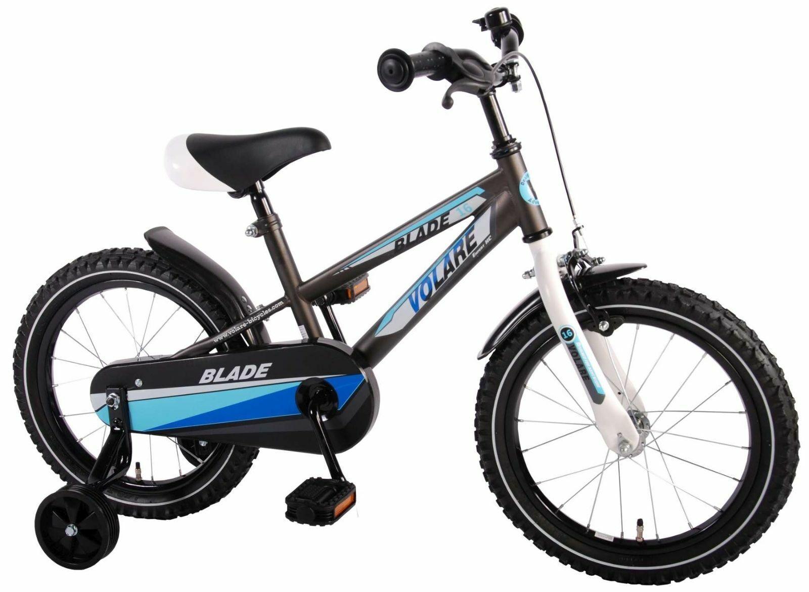16 Zoll Fahrrad Qualitäts Kinderfahrrad mit Stützräder Blade Grau Grau Grau Matt 61631 4c9acd