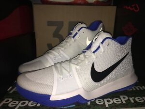 new styles 0bc59 597ed Details about Nike Kyrie Irving 3 III Duke 852395 102 Hyper Cobalt Blue  White Size 14