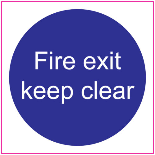 FIRE DOORFIRE EXIT KEEP CLEARSign//StickersSafety