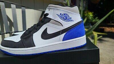 Details about Nike Air Jordan 1 Mid SE Shoe Union Royal Black Toe 852542-102 Men's Size 8.5