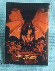 Alchemie & Occulta Buttons & Pins GroßZüGig Drachenfrau Teufelin Pentagramm Gothic Skull Mystik Pin Button Anstecker 56 Dinge Bequem Machen FüR Kunden