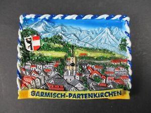 Magnet-Garmisch-Partenkirchen-Poly-Relief-7-cm-Germany-Souvenir-NEU