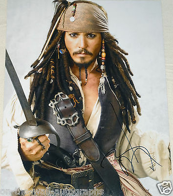 Johnny Depp Hand Signed Autographed Pirates Of Caribbean 11x14 Photo W/proof+coa Highly Polished Movies