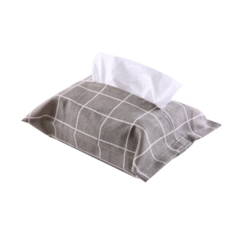 1PC Paper Facial Tissue Cover Holder Bag Cartoon Napkin Container Cotton Linen