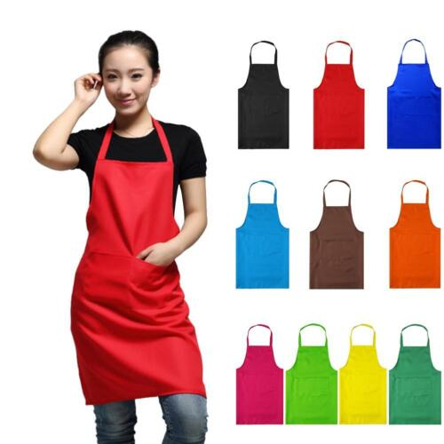 PLAIN APRON WITH POCKET FOR CHEFS BUTCHER HOME KITCHEN COOKING CRAFT BAKING BBQ