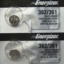 ENERGIZER 362/361 SR721SW SR721W WATCH BATTERIES (2piece) NEW Authorize Seller