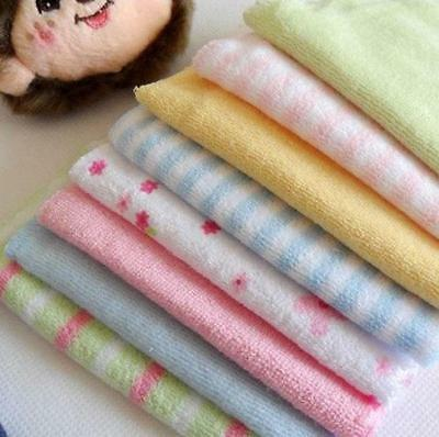 8pcs/Pack Baby Face Washers Hand Towels Cotton Wipe Wash Cloth Gift AU4 BD
