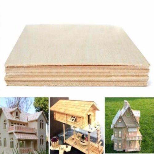 150x100x2mm Wooden Plate Model Balsa Wood Sheets DIY House Ship Aircraft 10pcs