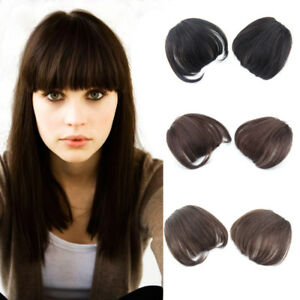 Thick-100-Human-Hair-Neat-Bangs-Clip-in-Hair-Piece-Front-Fringe-Hair-Extensions