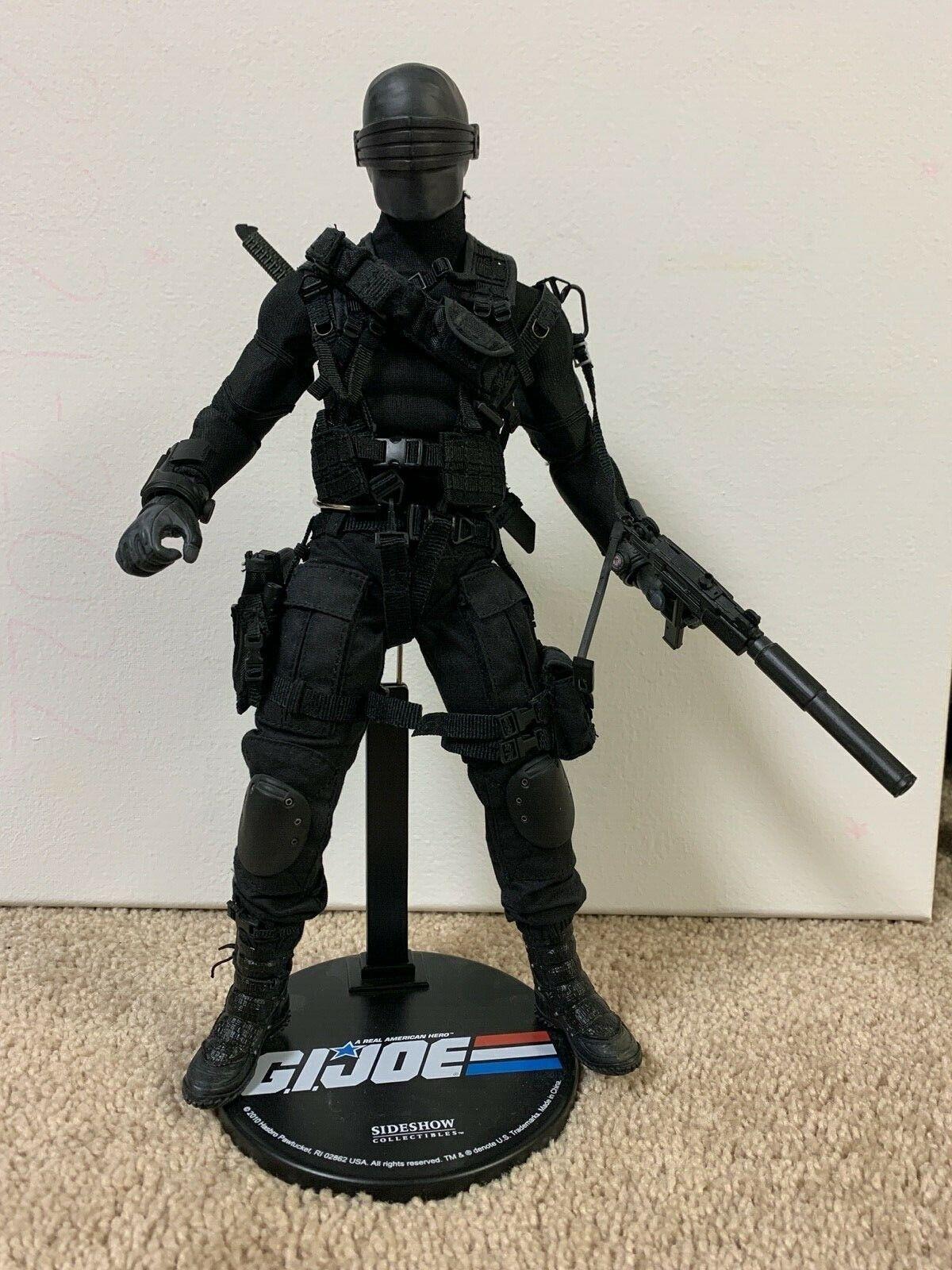 Custom Sideshow Sixth Scale Snake Eyes 1/6 Gi Joe Magneto body w bonus parts on eBay thumbnail