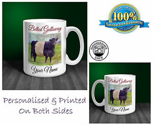 Belted Galloway Personalised Ceramic