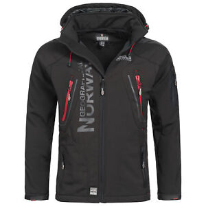 Geographical-Norway-Espoo-Hommes-Softshell-Veste-Outdoor-Fonction-Veste