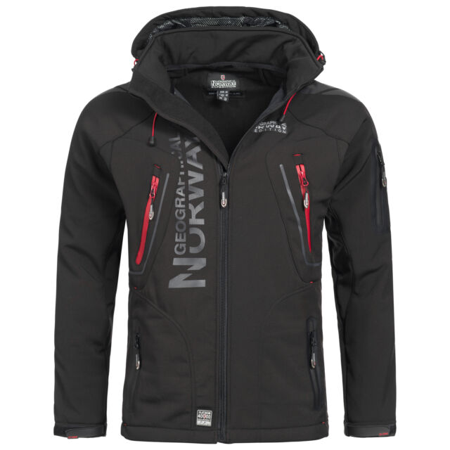 Geographical Norway Espoo Giacca da Uomo Softshell Outdoor Function Impermeabile