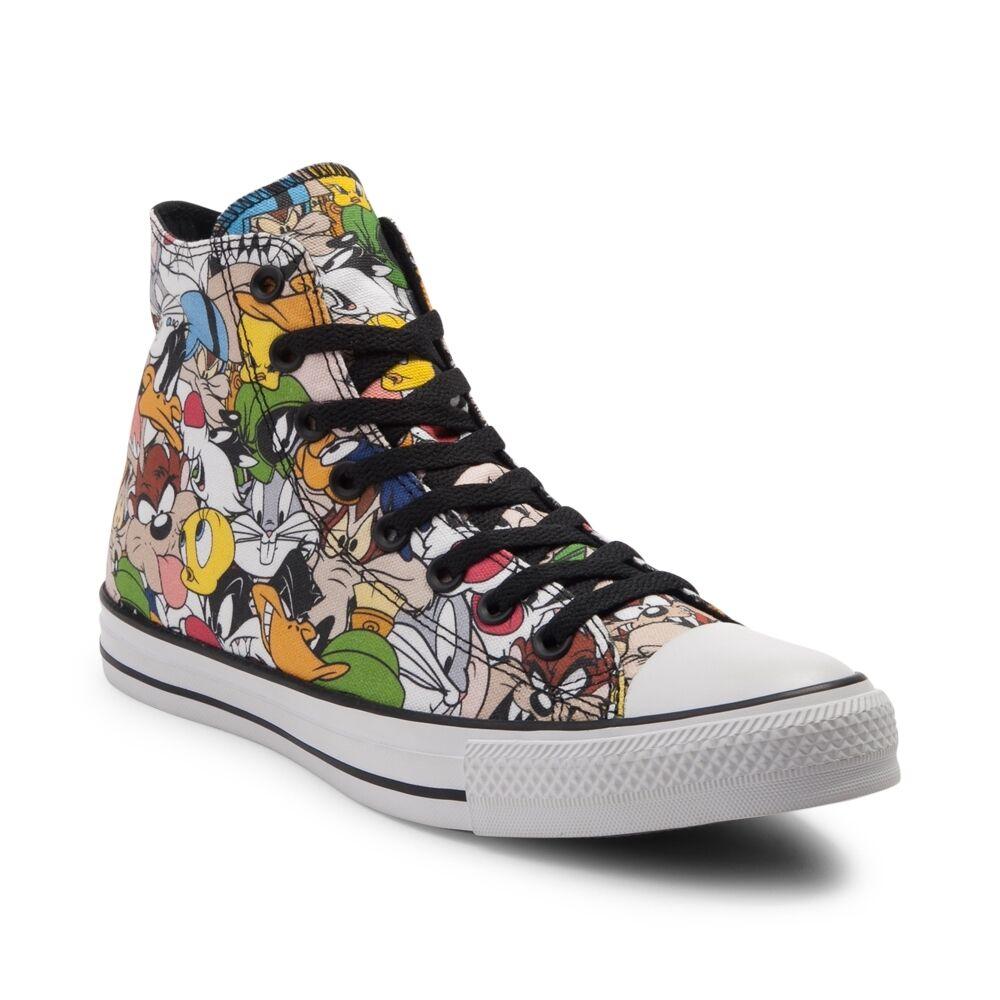 NEW Converse Chuck Taylor All Star Hi Looney Tunes Sneaker Multi Print Womens